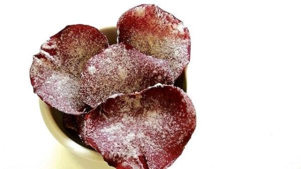 Pétalos de rosa caramelizados