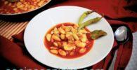 receta rápida alubias con jamón