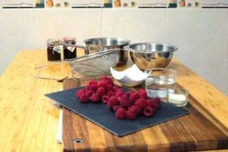 Ingredientes para hacer mérmelada de Frambuesas